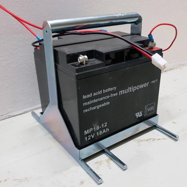 Separater Batterieträger für Austauschakkus als Zubehör
