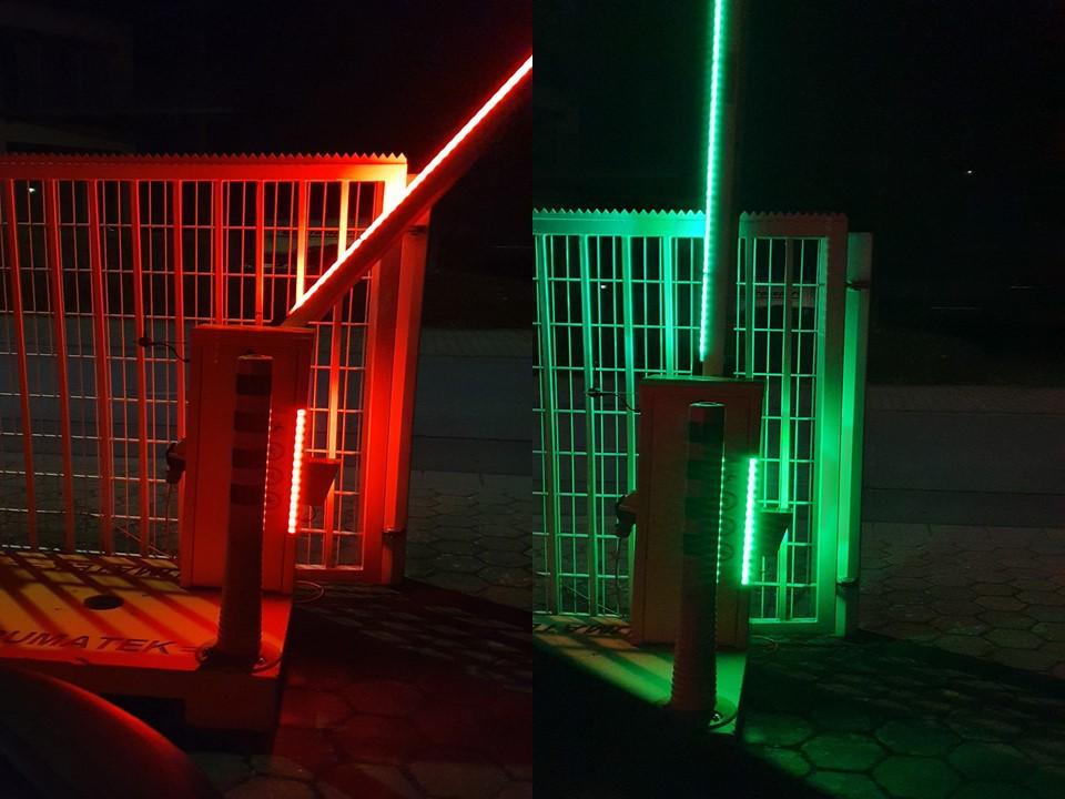 "Rumatek Automatikschranken ""das Original"" mit neuer RGB LED Beleuchtung"